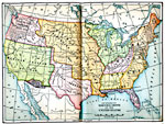 Map Showing The Territorial Growth Of The United States Early 1800s Map Showing The Territorial Growth Of The United States