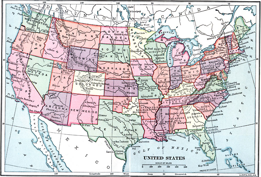 The United States 1870
