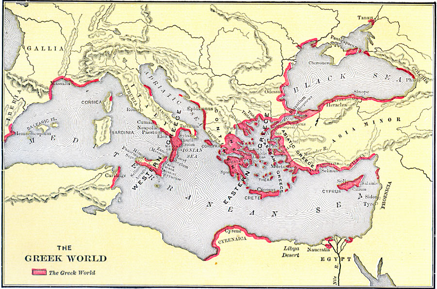 The ancient greeks werent all geniuses by anatoly karlin the unz map of ancient greek world gumiabroncs Gallery