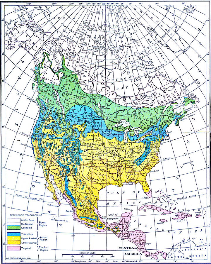 Zone Map of North America
