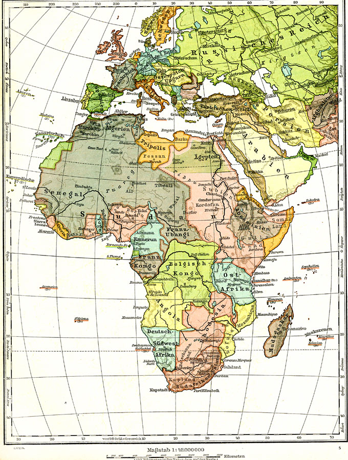 Europe and Africa, 1915