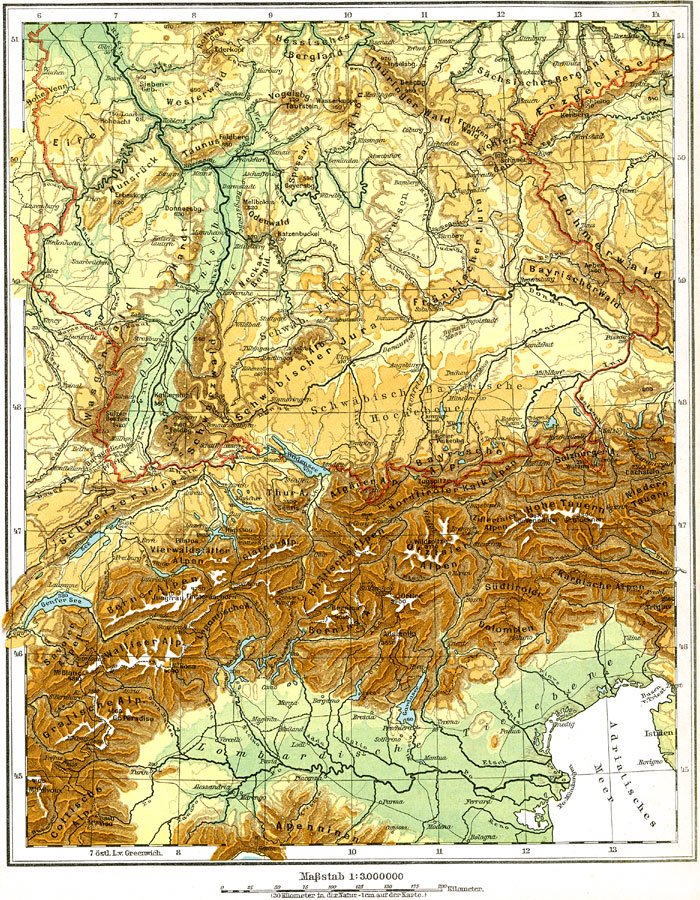 9827jpg – Southern Germany Map