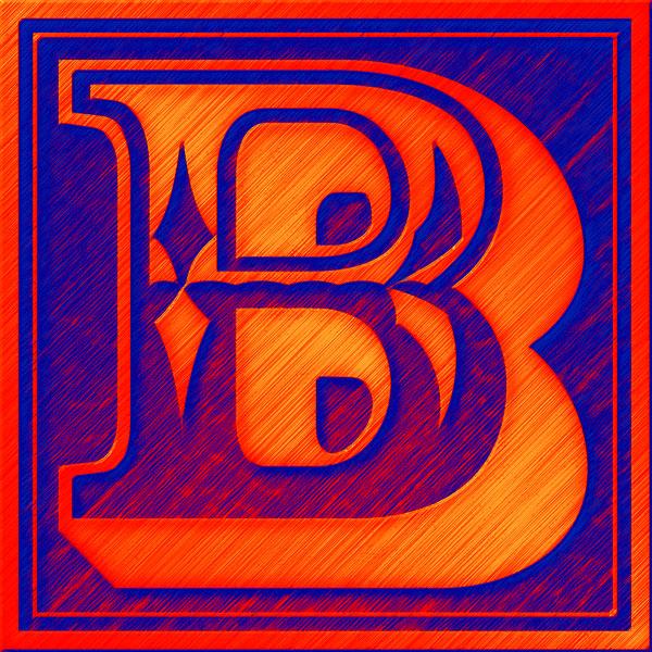 Presentation Alphabets Drop Caps Letter B