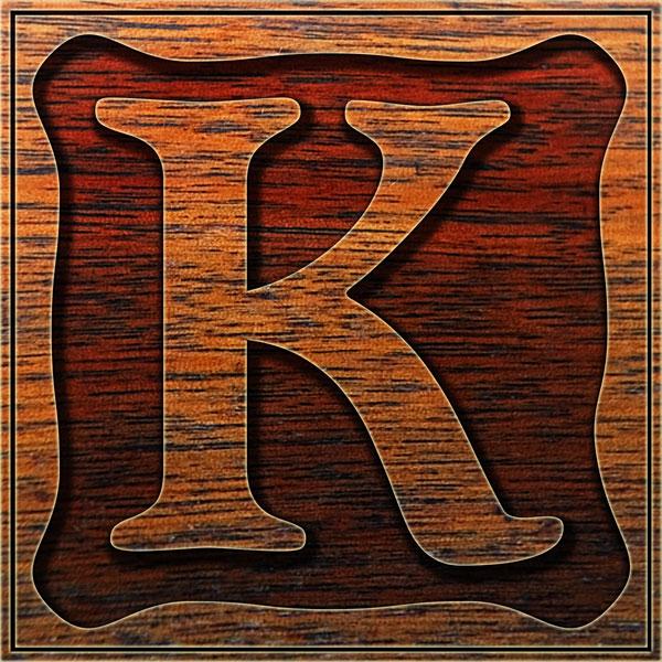 K Letter In Style Caps Letter K - Style 086