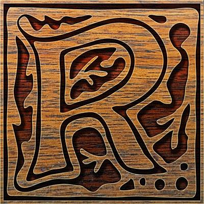 Presentation Alphabets Drop Caps Letter R Style 123