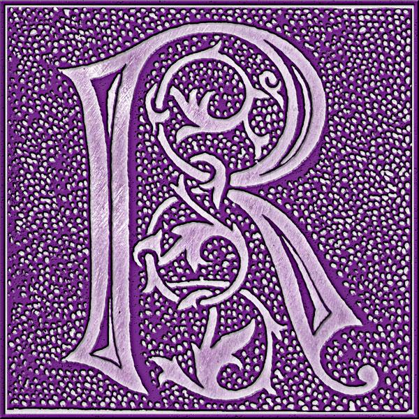 Presentation Alphabets Drop Caps Letter R
