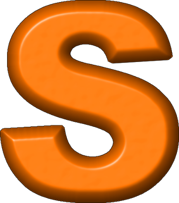 Orange Letter S Presentation alphabets: orange