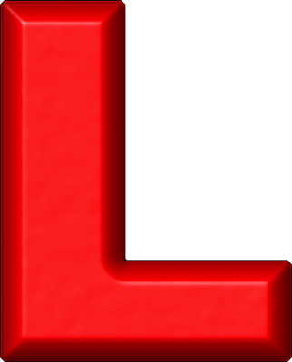 Presentation Alphabets Red Refrigerator Magnet L