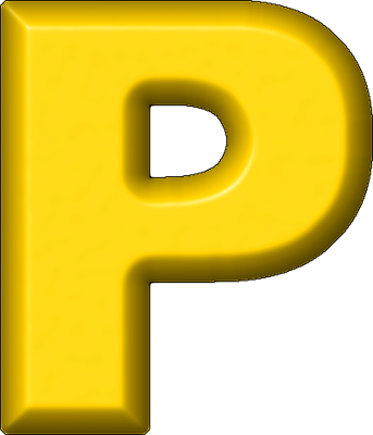 yellow letter p     alphabets Yellow Letter P