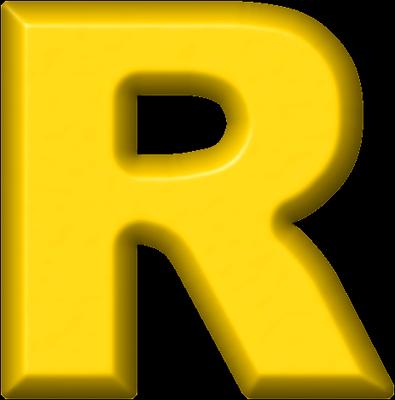 R Alphabet Name Presentation Alphabets: Yellow Refrigerator Magnet R