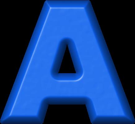 Presentation Alphabets: Blue Refrigerator Magnet A