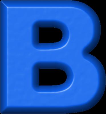 presentation alphabets: blue refrigerator magnet b