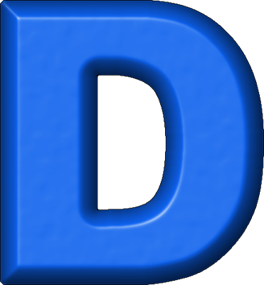 Presentation Alphabets: Blue Refrigerator Magnet D