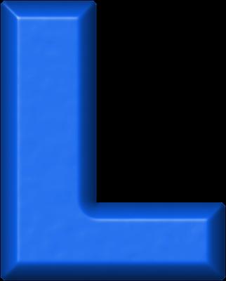 presentation alphabets: blue refrigerator magnet l