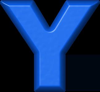 Presentation Alphabets Blue Refrigerator Magnet Y