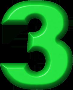 Presentation Alphabets: Green Refrigerator Magnet 3