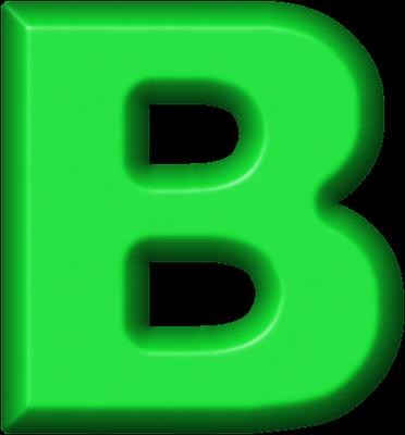 Presentation Alphabets Green Refrigerator Magnet B