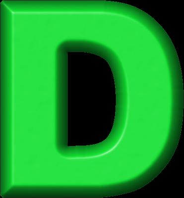 Presentation Alphabets: Green Refrigerator Magnet D