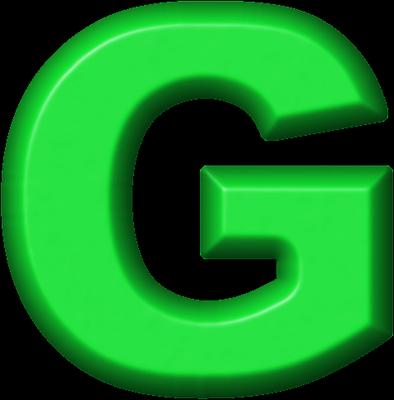Presentation Alphabets: Green Refrigerator Magnet G