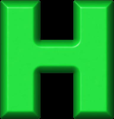 h alphabet pictures  Presentation Alphabet Set: Green