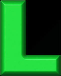 presentation alphabets green refrigerator magnet l