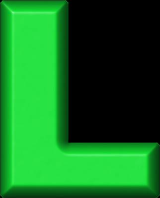L Alphabet Letter Green Letter L Presentation alphabets: green