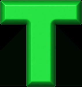 presentation alphabets green refrigerator magnet t
