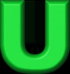Presentation alphabets green refrigerator magnet u stopboris Image collections