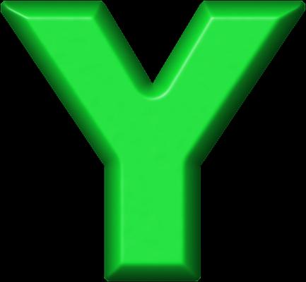 Presentation Alphabets Green Refrigerator Magnet Y