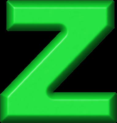 Presentation Alphabets: Green Refrigerator Magnet Z