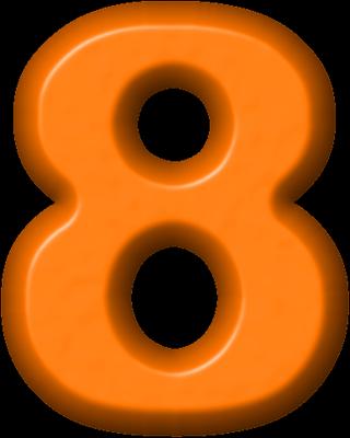 Presentation Alphabets Orange Refrigerator Magnet 8