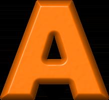 Presentation Alphabets Orange Refrigerator Magnet A