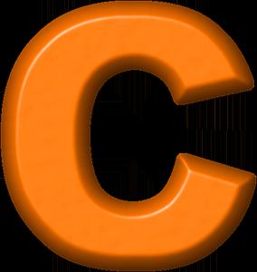 presentation alphabets orange refrigerator magnet c college clip art borders college clip art borders