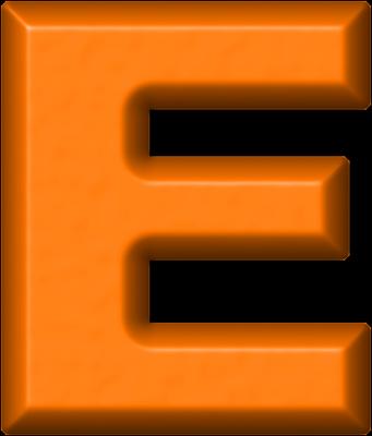 Presentation Alphabets Orange Refrigerator Magnet E