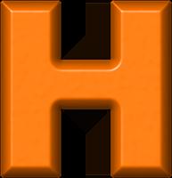 Pic Of M Letter >> Presentation Alphabets: Orange Refrigerator Magnet H