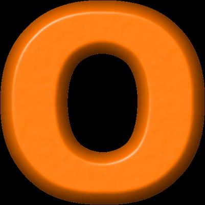 presentation alphabets orange refrigerator magnet o