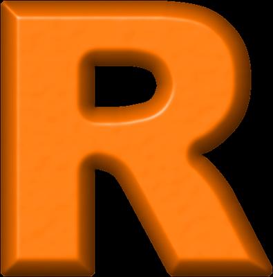 R Alphabet Letter Presentation Alphabets: Orange Refrigerator Magnet R