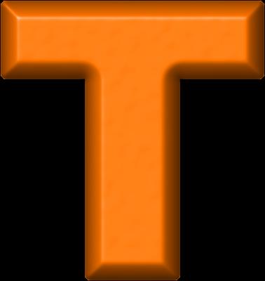 Presentation Alphabets: Orange Refrigerator Magnet T