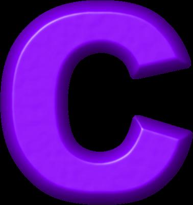 Presentation Alphabets: Purple Refrigerator Magnet C