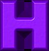 Presentation Alphabets: Purple Refrigerator Magnets