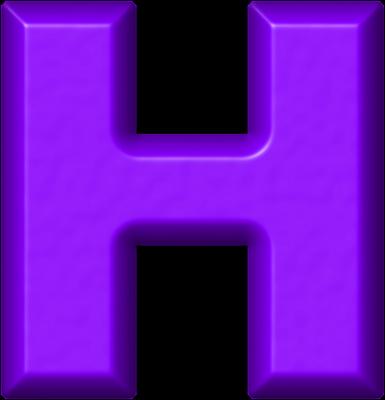 Presentation Alphabets: Purple Refrigerator Magnet H