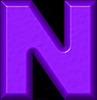 Letter NThe Letter N In Purple