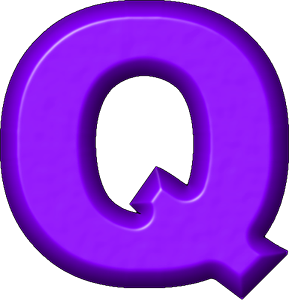 Presentation Alphabet Set: Purple Refrigerator Magnet Q