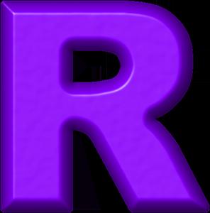 Presentation Alphabets: Purple Refrigerator Magnet R