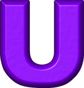 the letter u presentation alphabets purple refrigerator magnet u 25188 | U 300