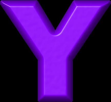 Presentation Alphabets: Purple Refrigerator Magnet Y