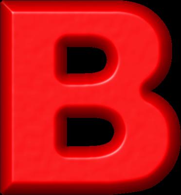 Presentation Alphabets: Red Refrigerator Magnet B