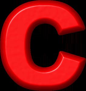 Presentation Alphabet Set: Red Refrigerator Magnet C