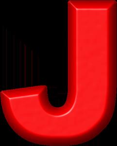 Presentation Alphabets Red Refrigerator Magnet J