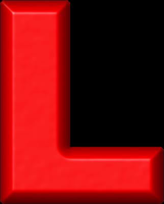 L Alphabet Letter The Letter L In Red Presentation alphabet set: red